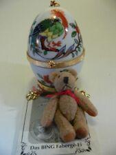 Bing Faberge Ei aus Meissen Porzellan mit Bing Teddy limitiert 40203