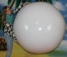 "72"" Inflatable WINTER WHITE Beach Ball - Heavy Duty Glossy Vinyl Snowball"