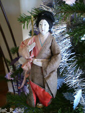 POUPEE ANCIENNE . JAPON . 25 CM . ENTIEREMENT D'ORIGINE . ORIENTAL DOLL