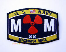 MACHINIST MATE MM RATING HAT PATCH US NAVY PIN UP USS USN ENLISTED CHIEF GIFT