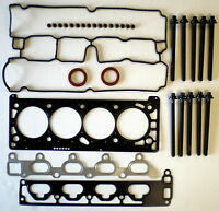 HEAD GASKET SET BOLTS ASTRA CORSA MERIVA TIGRA VECTRA ZAFIRA 1.8 1998 on OPEL