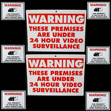 LOT OF WARNING VIDEO CCTV SECURITY CAMERAS IN USE BURGLAR SIGNS+WINDOW STICKERS