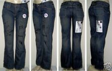 "WOMEN RUSTY BLU JEAN""CHILLED""9 LOW RISE PANT 34"" FLARE"