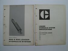 Cat Caterpillar 920 930 Loader Hydraulic System Service Manual Amp Specifications