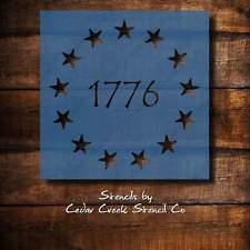 Patriotic 1776 Betsy Ross Star Craft Stencil,