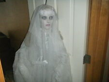 HALLOWEEN ZOMBIE BEAUTIFUL BRIDE EYES LIGHT UP HEAD AND ARMS MOVE CREEPY