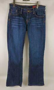 Seven 7 Classic Flare Womens Jeans Size 30 Blue Dark Wash Denim