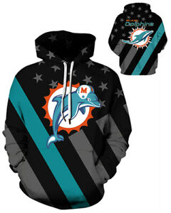Miami Dolphins Hoodie Lightweight Small-XXXL Unisex Fins Football M445