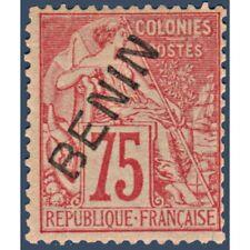 BENIN N°_12 TYPE ALPHÉE DUBOIS SURCHARGÉ, TIMBRE NEUF* 1892