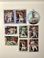 Mike Trout Card Lot (9) 2021 Topps & 2020 Topps Update Blue Border Parallel