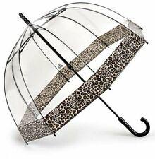 Animal print border  Domed umbrella by Fulton.