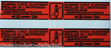 HONDA CB750F CB900F CBX CBX1000 CBX1000Z REAR SHOCK CAUTION WARNING DECALS