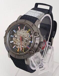 NAUTICA Automatik Herrenuhr Automatic Uhr 10 ATM UVP*459,- € NEU Silikon schwarz