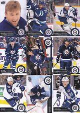 2014-15 Upper Deck Winnipeg Jets Complete Series 1 & 2 Team Set - 11 Cards