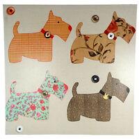 Canvas Wall Art Print Heart Sweet Home Scottie Dog Bird Prints 50x50cm