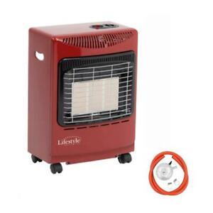 Lifestyle MINI RED Gas Butane Portable Cabinet Heater Fire + Regulator/Hose