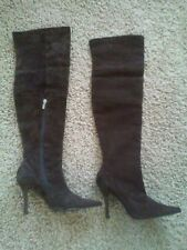 Colin Stuart Victoria Secret Brown Suede Over The Knee Thigh High Heel Size 6