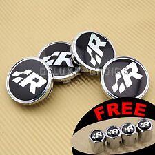 4 pcs SR R-LINE CAR WHEEL CENTER CAP HUB 60mm for VW Golf/Polo/R64/R32 US SELLER