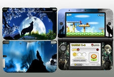 Black Cool Wild Wolf for 3DSXL 3DS XL Skins Sticker Decals Cover Free Ship to US