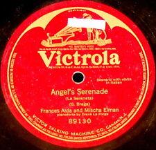 "RCA VICTROLA 12"" 78 RPM One-Sided MISCHA ELMAN & FRANCES ALDA Braga 89130 EX"
