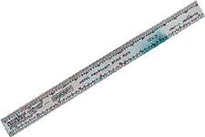 Mascot Precision Tools # 711 Scale Ruler   HO, N, S and O Scales   A Scale  MIB
