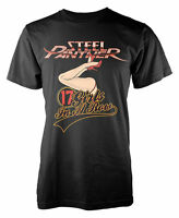 Steel Panther T Shirt 17 Girls In A Row Officially Licensed Mens Classic Rock