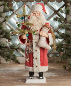 Bethany Lowe Vintage Look Santa With Stocking TD7683 Large Belsnickle Decoration