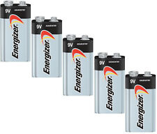 5 Energizer Max 9v 9 Volt E522 1604 Alkaline Batteries