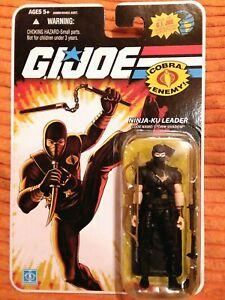 "Gi Joe 2008 25th anniversary STORM SHADOW  NINJA-KU LEADER BLACK   3.75"" figure"