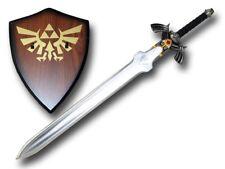 Carbon Steel Blade Dark Link's Master Sword from the Legend of Zelda with Plaque