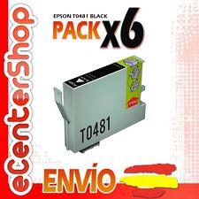 6 Cartuchos de Tinta Negra 0481 NON-OEM Epson Stylus Photo R300