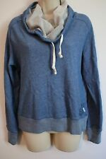CONVERSE Womens Blue Tri-Blend Cowl Neck Hoodie Sweatshirt MEDIUM