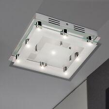 WOFI lámpara LED de techo ORI 9-flg Cromo Vidrio anguloso 30cm 21,6 vatios