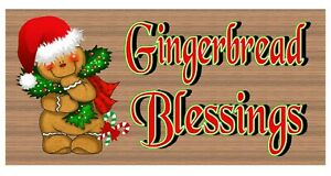 """GiggleSticks """"Gingerbread Blessings"""" Wood Sign GS1556"""