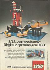 X9307 Lego - Base soccorso marittimo - Pubblicità 1976 - Advertising