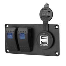 2 Gang LED Light Bar Car Caravan Marine Boat Rv Rocker Switch Panel Circuit IP65