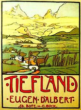 "1908 Original OPERA 1st English EUGENE D'ALBERT Score ""TIEFLAND"" Luxury EDITION"