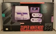 Super Nintendo Entertainment System SNES Console Set CIB 1ST RUN BOXED COMPLETE