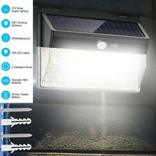 206 LED Solar Power Waterproof PIR Motion Sensor Wall Light Outdoor Garden Lamp