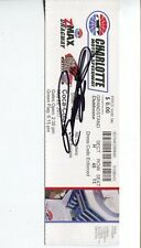 Richard Childress Nascar HOF Signed Autograph Historic RARE Coca Cola 600 Ticket