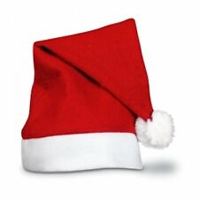 Luxury Father Christmas Santa Hat Deluxe Xmas With Snow Bobble UK