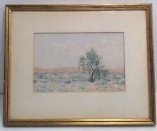 California Artist Kurt Reineman Desert Willow 1941 Oil On Canvas Framed Art