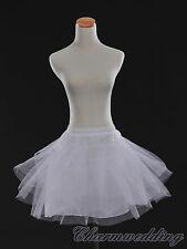 White 3 Layered Dress Children Petticoat Bridal Underskirt Slips for Flower Girl
