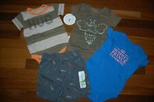 NWT Boys 12m 12 MONTHS CARTER'S BURT BEES JUMPING BEANS 4 Piece Lot
