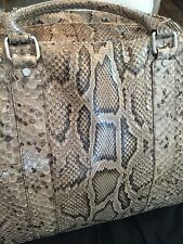DOLCE & GABBAN PYTHON LEATHER TRAVEL BAG - NEW