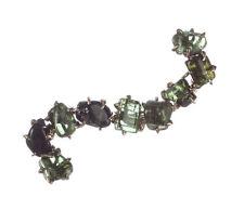 9 kt Gold Plated Green Tourmaline Pin