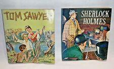 SHERLOCK HOLMES  & TOM SAWYER - Nestle's QUIK Premium Giveaway Books 1956