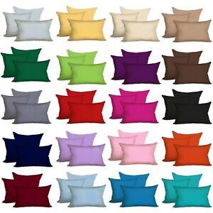 Doppelpack JERSEY KISSENBEZUG 40x40 50x50 40x60 40x80 80x80 40x145  Baumwolle