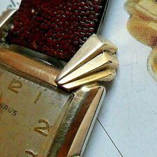 Flared Lug Vintage 1940's Men's Benrus 17 Jewel BA 2 Swiss Mechanical Watch Runs