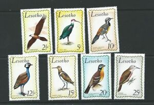 LESOTHO SG204/10 1971 BIRDS MTD MINT